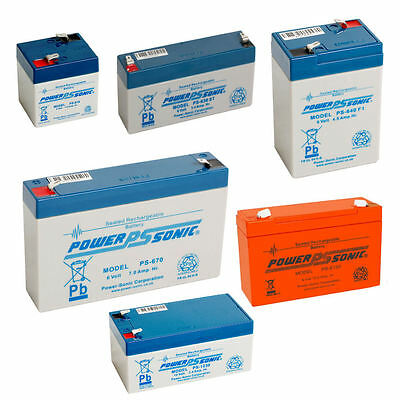 Powersonic 12v / 6v Sealed Lead Acid Rechargeable Battery Leisure, Alarm, Volt • 11.25£