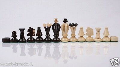 Brand New♞ Hand Crafted   ♚Wooden Chess  Pieces♖ • 18.89£