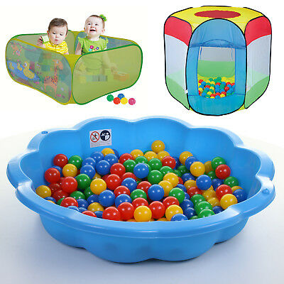Sand Pit Ball Pit Paddling Pool Outdoor Play Area Shell Childrens Play Tent Zone • 29.99£