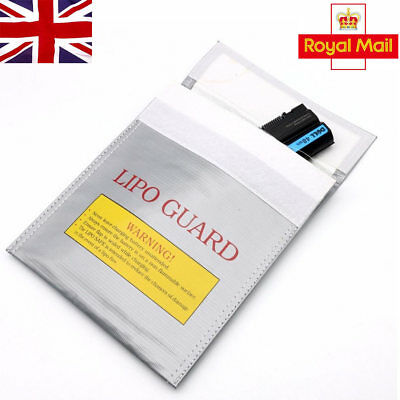 RC LiPo Battery Safety Bag Safe Guard Charge Fireproof Sack 30*23cm Silver In UK • 4.98£