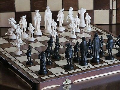 Brand New ♚  Medieval Design Chess  Set ♞Great Board. • 44.89£