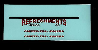 MATCHBOX TRANSFERS/DECALS - 74a MOBILE REFRESHMENT CANTEEN • 2.75£