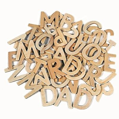 60 Wooden Letters Capital Alphabet Educational And Craft • 5.85£
