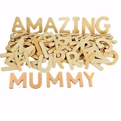 120 Wooden Letters Capital Alphabet Educational And Craft • 8.95£