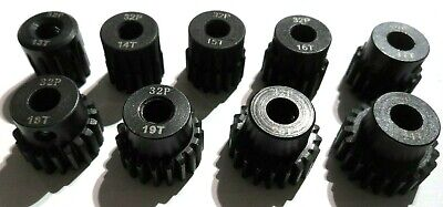 32P Pitch 5mm Shaft Pinion Gears 11t To 25t Tooth Fits Brushless Motor • 3.65£