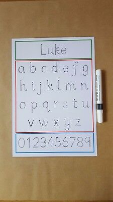 Name Tracing, Tracing Letters, Tracing Numbers, Wipe Clean Mat, EYFS, KS1 • 2£