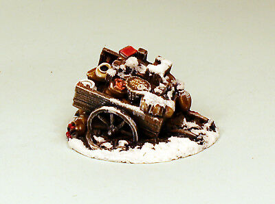28mm Scale Grey Resin Abandoned Provisions Wagon-Resin Terrain-Scenery UNPAINTED • 9£