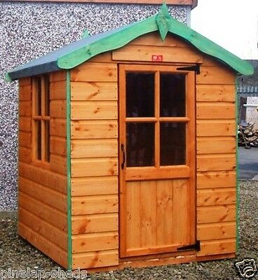 Children's Wooden Playhouse Kids Wendy House Pinelap Outdoor Den - Fully T&G • 420£