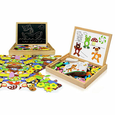 Doodle Children's Wooden Multifunctional Puzzle Magnetic Board With Eraser • 9.99£