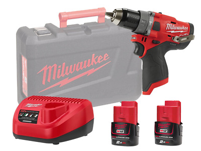 Milwaukee 12v Fuel Brushless 2-speed Combi Drill - M12fpd - 2.0ah Pack • 180£