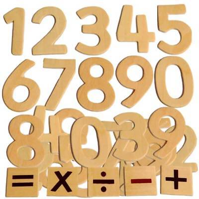 Educational Wooden Numbers Kids Craft Math Counting Plaques Signs Pack Size 30  • 4.75£