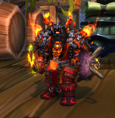 WOW TCG Loot Code Landro Longshot World Of Warcraft The Red Epic Tabard Of Flame • 24.99£