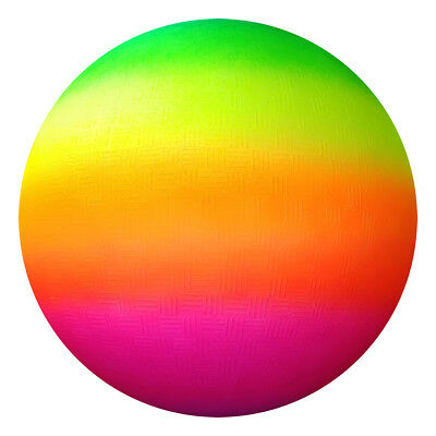 Giant Jumbo 16  Neon Rainbow Rubber Playground Play Beach Sport Ball Football • 5.75£
