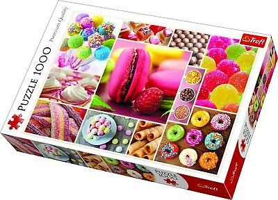 Trefl 1000 Piece Adult Large Candy Sweets Pastries Collage Jigsaw Puzzle NEW • 8.99£