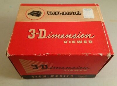 Viewmaster 3 Dimensions Viewer Boxed Model E • 49.99£