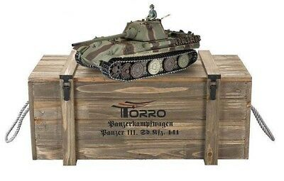 Torro 1/16 RC German Panther F BB Tank Camo 2.4G Metal Edition 360 Wooden Box UK • 429.99£