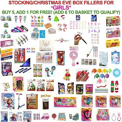 Christmas Eve Box & Stocking Party Bag Fillers Gifts GIRLS ONLY! UNICORNS FROZEN • 1.79£
