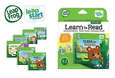 LeapFrog LeapStart Book Set Of 6, Learn To Read Volume 2 W/ Phonics, Vowel Teams • 24.95£