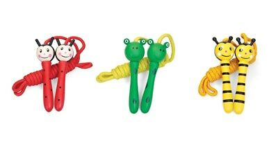 Wooden Skipping Rope - Bee, Ladybird Or Frog In A Box - Wooden Toys -Children • 6.95£