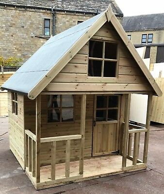 Children's Wooden Playhouse 6x6 Mini Chateau **Pressure Treated Tanalised T&G** • 675£