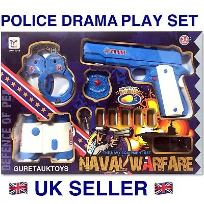 Toys Police Drama Play Set With Soft Bullet Toy Gun Great Gift Idea ! Uk Seller • 10.99£