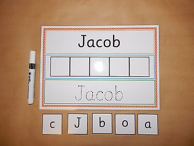 I Can Write And Spell My Name - EYFS /Early Learning - Wipe Clean/reusable Mat • 3.25£