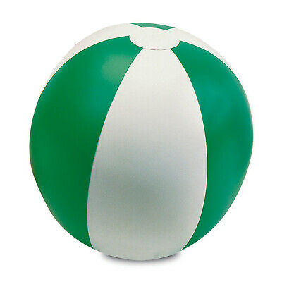 Green 9  Inflatable Blow Up Colour Panel Beach Ball Holiday Swimming Garden Toy • 1.99£