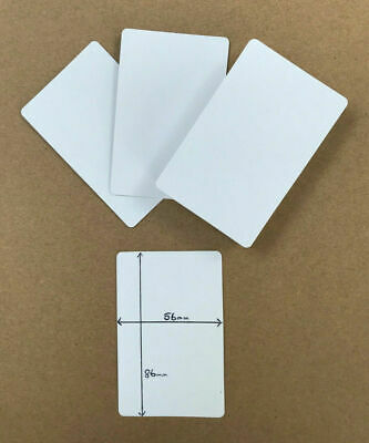Blank Flash Cards / Playing Card (blank BOTH Sides) At 56mm X 86mm, Gloss Finish • 4£