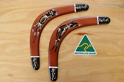 Hand Crafted And Hand Painted Australian Made 34cm Throwing Boomerang Twin Pack • 14.06£