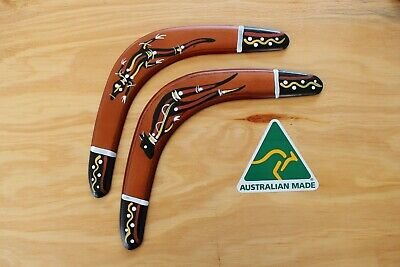 Hand Crafted And Hand Painted Australian Made 29cm Throwing Boomerang Twin Pack • 11.25£