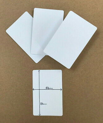 100 X Brand New BLANK Playing Cards (flash Card Blank BOTH On Sides) 5.6 X 8.6cm • 3.80£