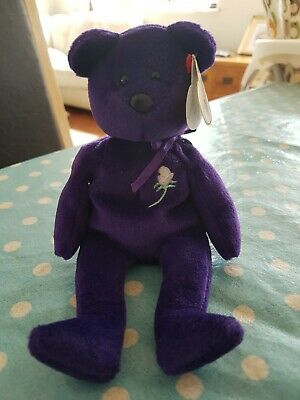 Ty Beanie Baby Bear Princess Diana - Made In Indonesia - Vgc-retired • 10.50£