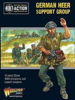German Heer Support Group Warlord Games Brand New WGB-402212006 • 18£
