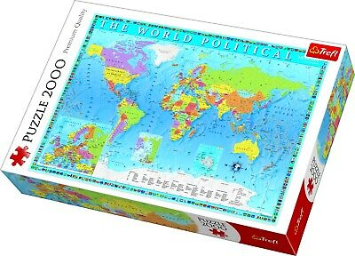 Trefl 2000 Piece Adult Large Political Map Of The World Floor Jigsaw Puzzle NEW • 11.99£