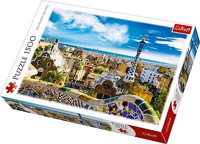 Trefl 1500 Piece Adult Large Park Guell Barcelona Spain Floor Jigsaw Puzzle NEW • 10.99£