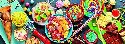 Trefl 1000 Piece Panorama Adult Large Sweet Delights Candy Floor Jigsaw Puzzle • 9.99£