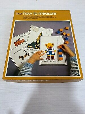 Vintage How To Measure Early Learning Teaching Resource GALT Retro • 7.50£