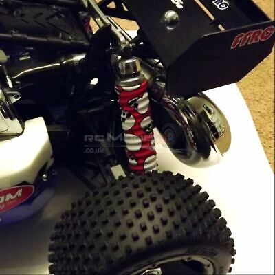 FullForce RC BAJA 5B/5T Shock Boots (4) - SKULL RED KM Rovan Buggy HPI Blade 5SC • 21.99£