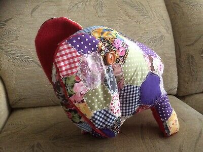 Patchwork Elephant Handmade Soft Toy  • 9.95£