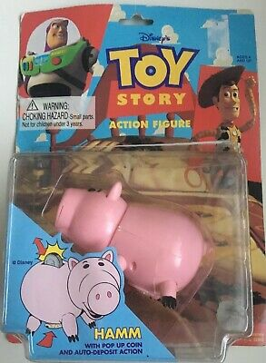 Vintage 1995 Toy Story Hamm Piggy Bank Style Action Figure • 25£