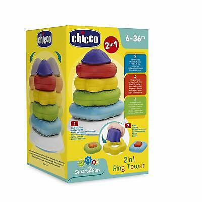 Chicco Ring Tower 2 In 1 Babies Toddlers 6-36 Months Brand New Smart2Play • 12.95£