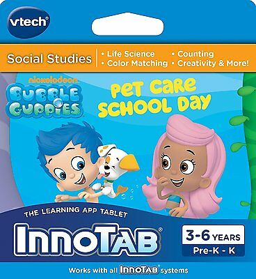 VTech InnoTab 1 2 3 3S MAX Bubble Guppies - Pet Care School Day Games Software  • 5.45£