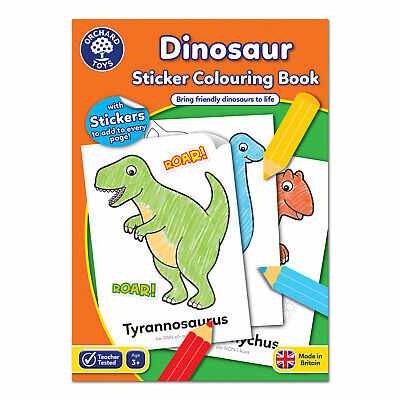 Orchard Toys Dinosaur Sticker Colouring Book • 4.75£