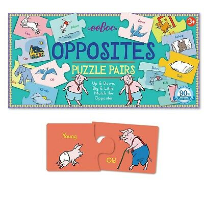 Eeboo Puzzles For Children - Opposites Puzzle Pairs • 16.99£
