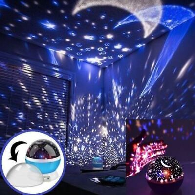 Calming Autism Sensory LED Lights Rotating Cosmo-Star Night Light Sky Projector • 11.99£