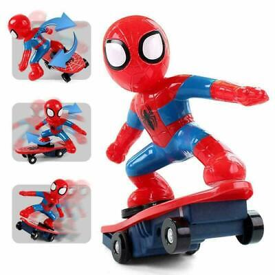 Present Gift Kids Spiderman Toy Skateboard Scooter Rotating With Music And Light • 14.99£