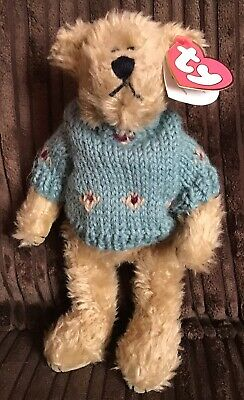 "Ty Skylar Bear In Jumper Attic Treasure Jointed Soft Plush Toy 6-8"" Tagged • 7.99£"