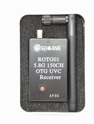 Android FPV Receiver ROTG01 UVC OTG 5.8G 150CH Full Channel For Phone Eachine • 21£