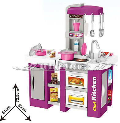 Talented Chef Kitchen 53 Pcs. Toy Running Water Sounds & Lights Role Play NEW • 34.19£