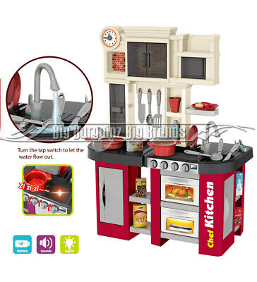 Talented Chef Kitchen 58pcs. Toy Running Water Sounds & Lights Role Play NEW • 35.19£
